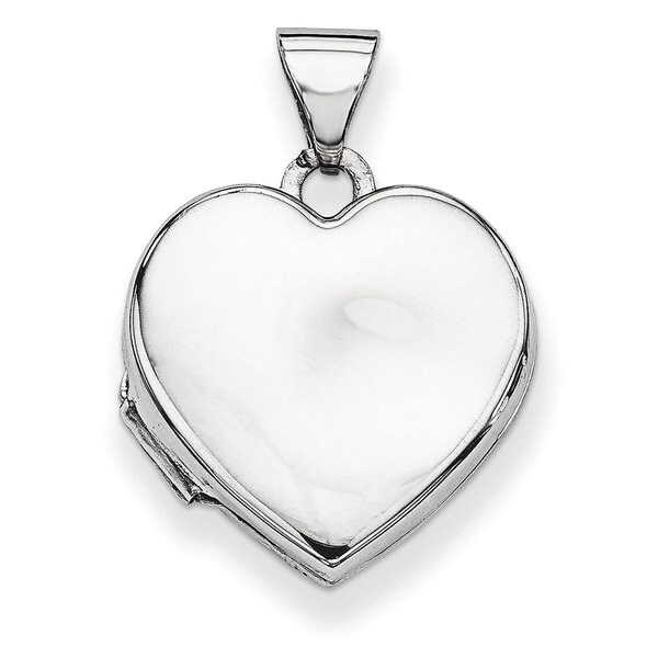 Versil Sterling Silver Plain 15mm Heart Locket
