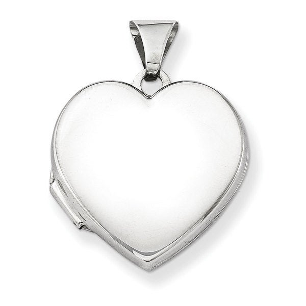 Versil Sterling Silver Plain 18mm Heart Locket