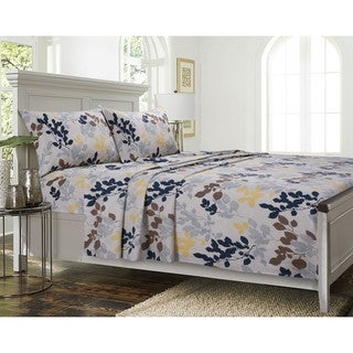 Barcelona Cotton Printed Deep Pocket Bed Sheet Set or Pillowcase Separates