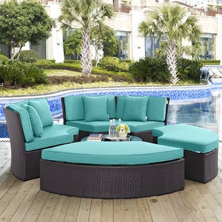 Gather Circular Outdoor Patio Daybed Set