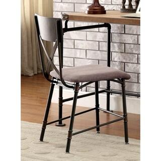 Furniture of America Herman Industrial Antique Black Chair