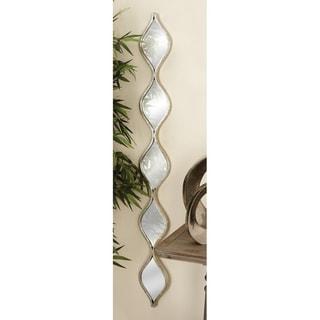 Long 5 Tear Drop Metal Mirror Wall Decor - Antique Silver