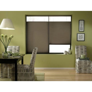 Espresso 20 to 20.5-inch Wide Cordless Top Down Bottom Up Cellular Shades