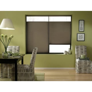 Espresso 21 to 21.5-inch Wide Cordless Top Down Bottom Up Cellular Shades