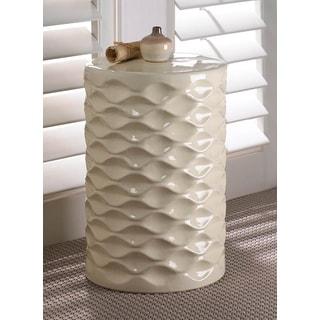 Modern Geometric-Designed Ceramic Stool