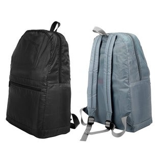 Zodaca Polyester with PU Backing Lightweight Water-resistant Travel Foldable Backpack