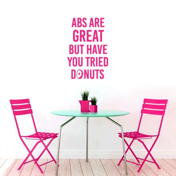 Abs Are Great But Donuts Funny Medium Wall Decal