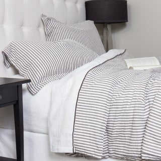 Connie Grey Cotton Duvet Cover Set