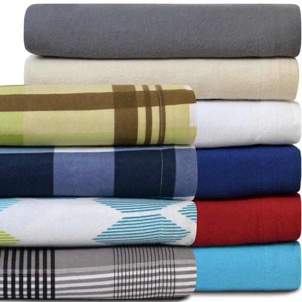 100-percent Super Soft Cotton Flannel Twin XL Sheet Set