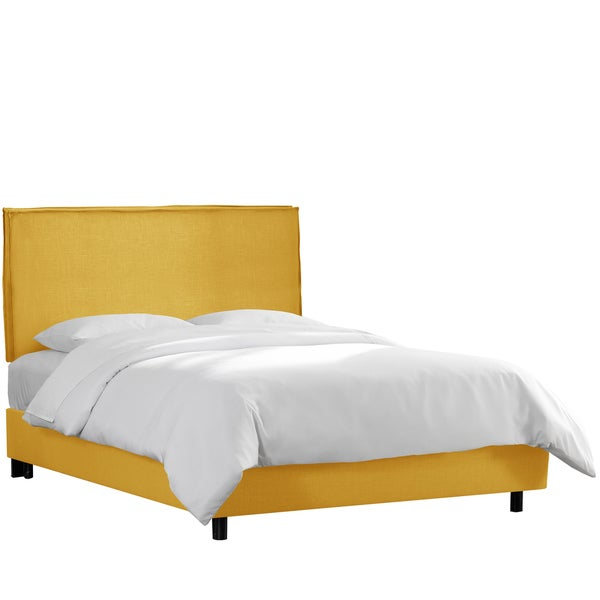 Skyline Furniture French Yellow Linen Slipcover Bed