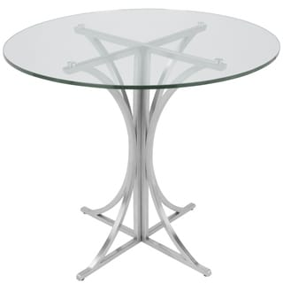 Boro Contemporary Brushed Stainless Steel Dining Table