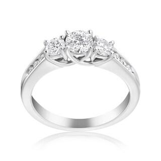 Andrew Charles 14k White Gold 1ct TDW 3-stone Diamond Ring (H-I, SI2-I1)