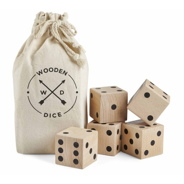 American Vintage Jumbo Wood Dice Set