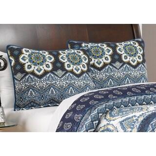 Medina Indigo Pillow Sham Set