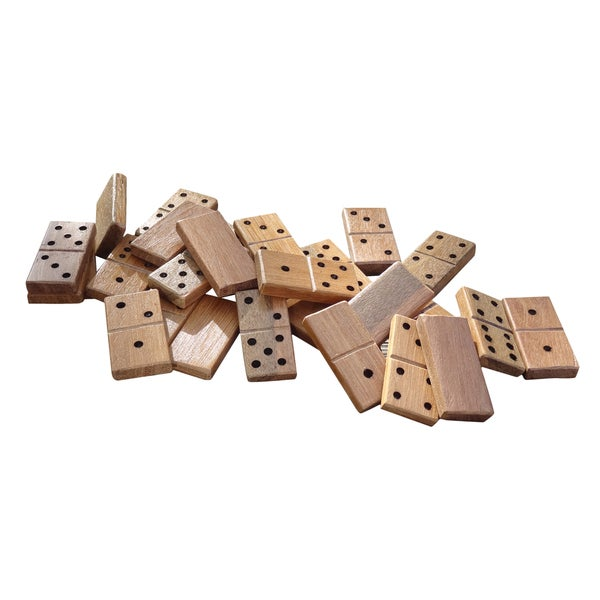 American Vintage 28-piece Jumbo Wooden Dominoes