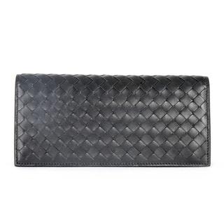 Bottega Veneta Brown Leather Woven Clutch