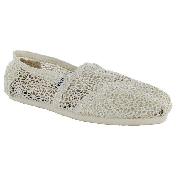 Toms Women's Classic Crochet Slip On Alpargata Shoes