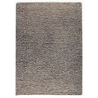 Indian Hand-knotted Tokyo Grey/ Beige Rug (6'6 x 9'9)