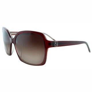 Fendi Womens FS 5267R 604 Bordeaux Plastic Oversized Sunglasses
