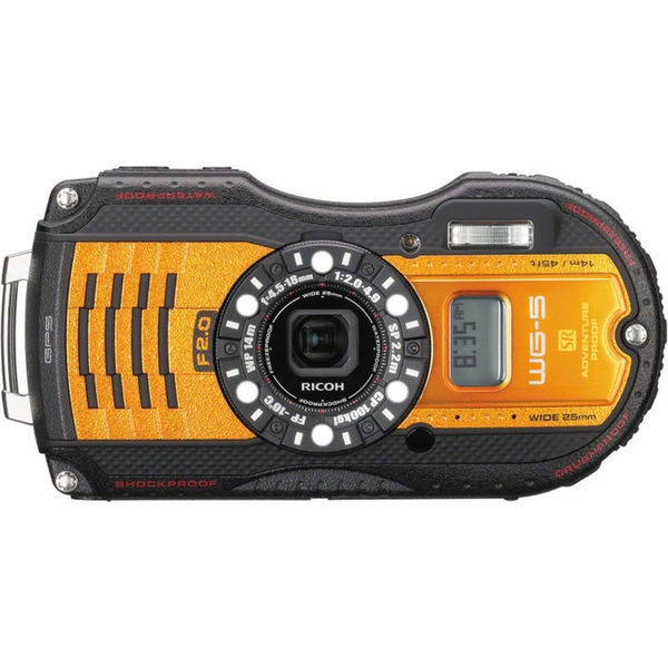 Ricoh WG-5 GPS Digital Camera (Orange)