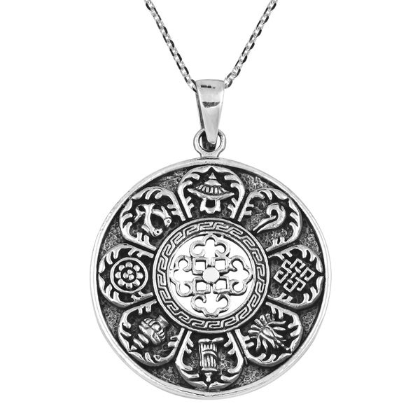 Ancient Tibetan Amulet Sterling Silver Necklace (Thailand)