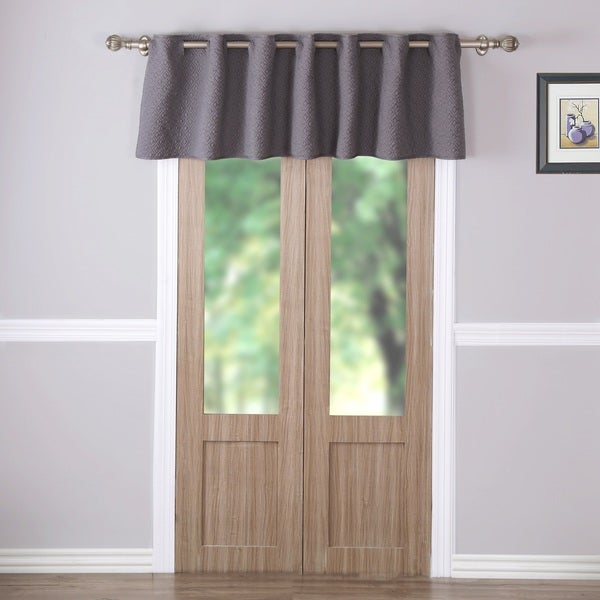 Vashon Grey Quilted Window Valance
