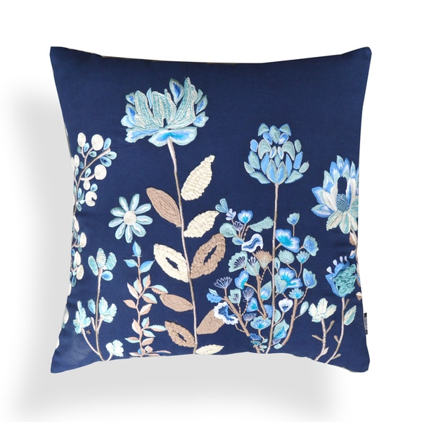 Georgia Floral Indigo 20-inch Pillow