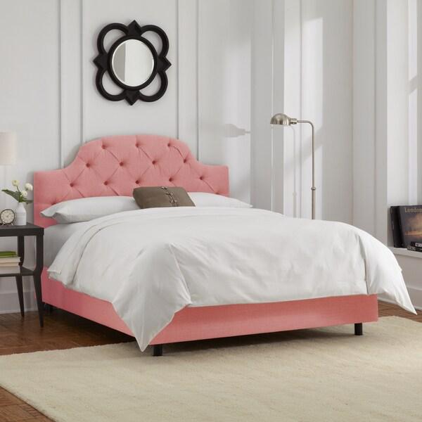 Skyline Furniture Petal Linen Tufted Bed