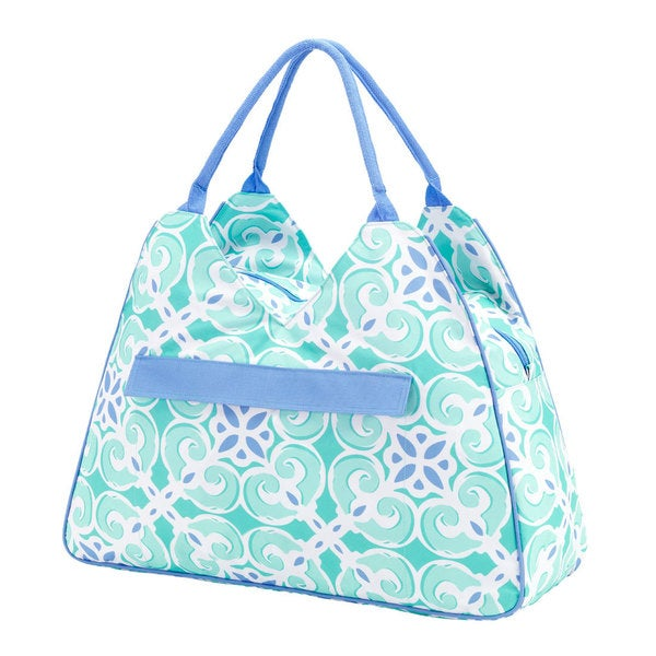 Women's Sea Tile Blue Beach Bag