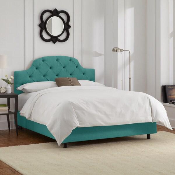 Skyline Furniture Laguna Linen Tufted Bed