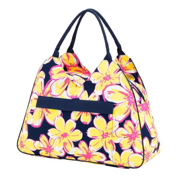 Blue and Yellow Beach Floral Beach Bag