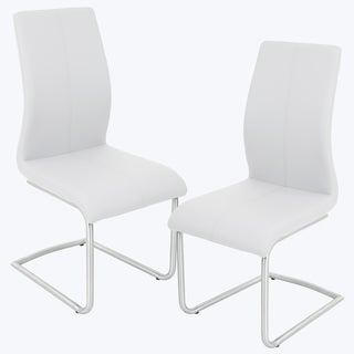 Pair of Berkley Contemporary Stainless Steel Dining Chairs
