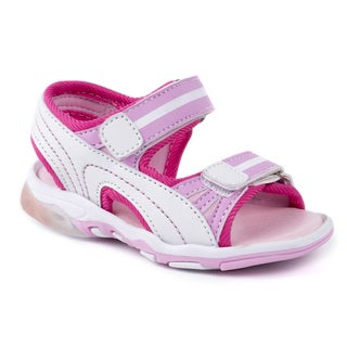 Rugged Bear Girls' Pink Sandals with Lights