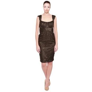Marc Bouwer Chocolate Lace Eve Dress (Size 6)
