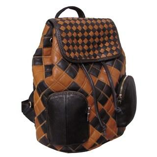 Amerileather Masson Fashion Leather Drawstring Backpack
