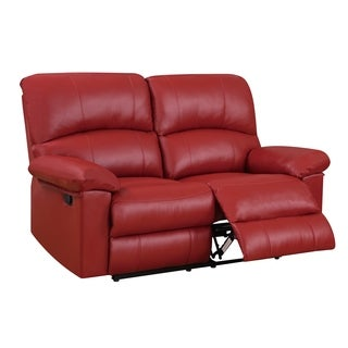 Reclining Red Loveseat