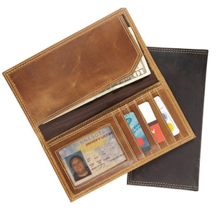 Canyon Outback Crazy Horse RFID Security Blocking Leather Long Wallet