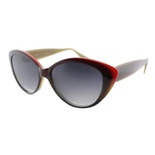 Lafont Porquerolles 1013 Dark Eggplant Plastic Cat Eye Grey Gradient Lens Sunglasses