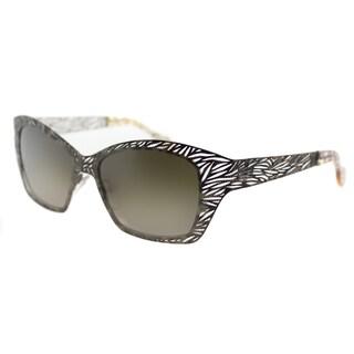 Lafont Lome 030 Grey Brown Metal Cat Eye Brown Gradient Lens Sunglasses