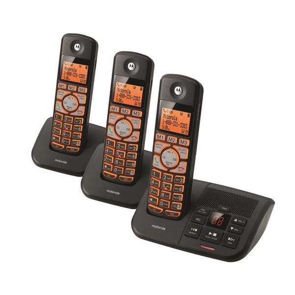 Motorola K703B Cordless Big Backlit Button Phone with 3 Handsets