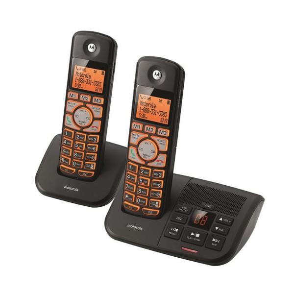 Motorola K702B Cordless Big Backlit Button Phone with 2 Handsets