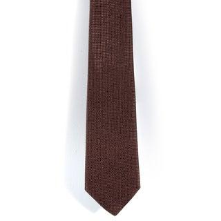 Davidoff 100-percent Silk Solid Brown Neck Tie