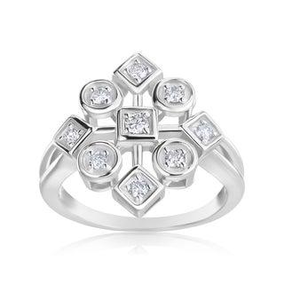 Andrew Charles 14k White Gold 1/3ct TDW Diamond Ring (H-I, SI2-I1)