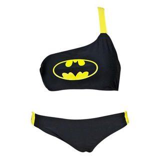 Batman Women's One Shoulder Low Rise Bikini