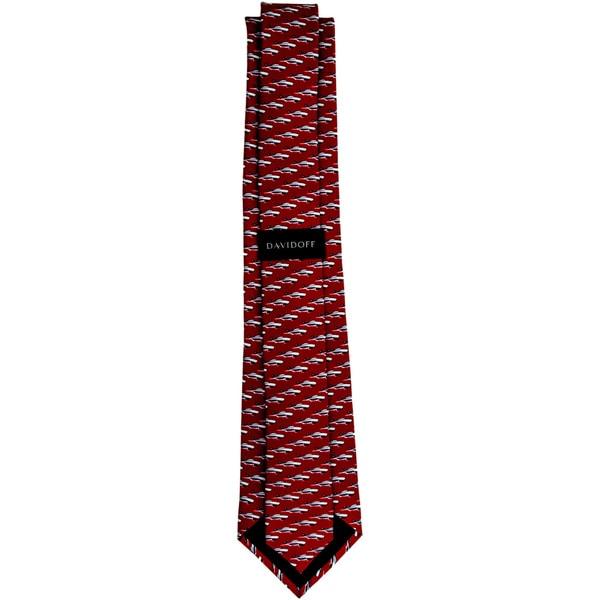 Davidoff 100-percent Silk Burgundy Print Neck Tie