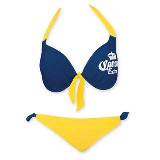 Corona Extra Women's Front Tie Underwire Push Up Side Tie Bottom Bikini