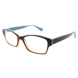 Lafont Lin 5020 Amber On Blue Plastic Rounded Rectangle 53mm Eyeglasses