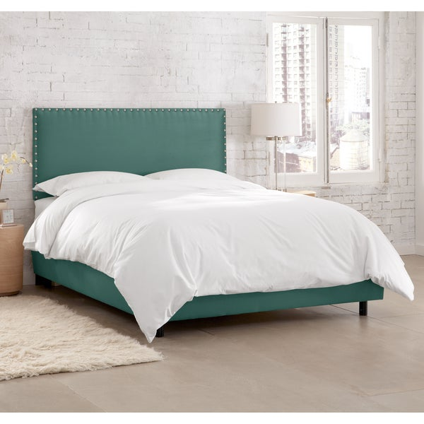 Skyline Furniture Premier Tidepool Nail Button Border Bed