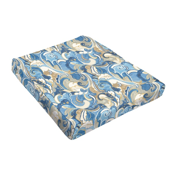 Sloane Blue Atlantic Outdoor Tapered Chair Cushion (Set of 2)