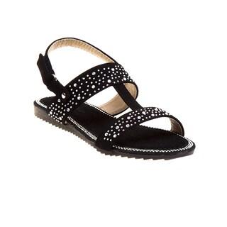 Laura Ashley Girls' Rhinestone Strap Sandals